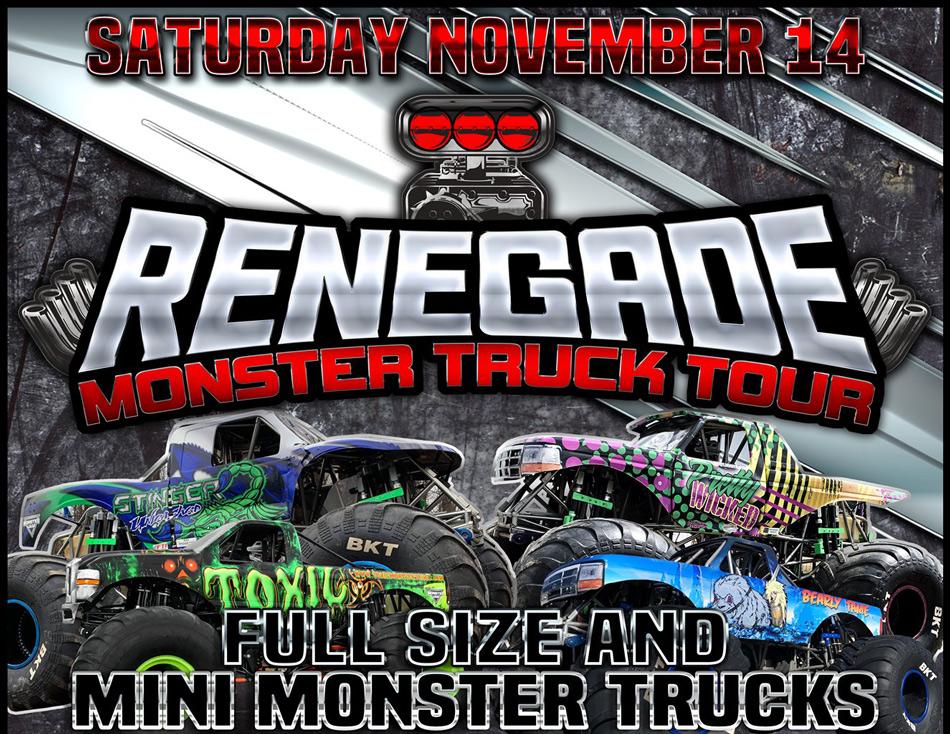 Monster Trucks Saturday Nov. 14th